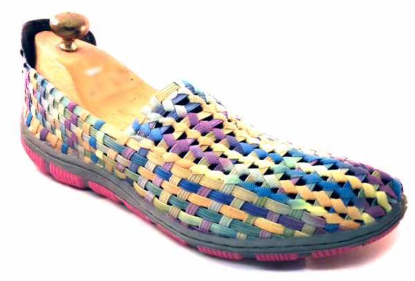 Adesso all elastic upper fun multi coloured summer shoe.